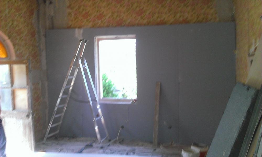 doublage des murs donnant sur l 39 ext rieur et remplacement